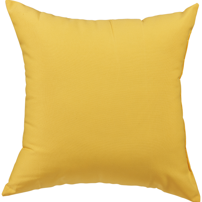 Garden Treasures Polyester Pillow - 16-in x 16-in - Yellow