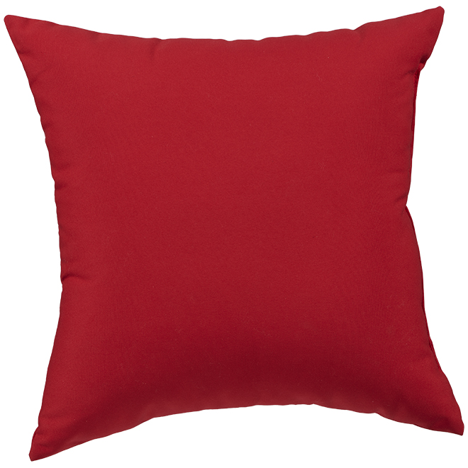 Garden Treasures Polyester Cushion - 16-in x 16-in - Red