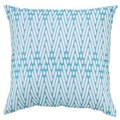 Style Selections Patio Toss Pillow - 16-in x 16-in - Polyester - Turquoise
