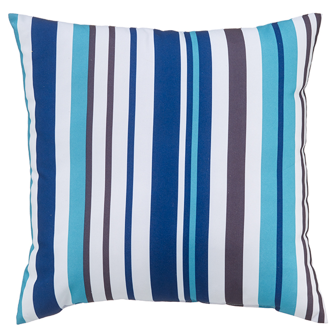 Coussin pour le patio Style Selections, 16 po x 16 po, polyester, multicolore