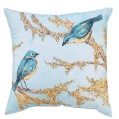 Style Selections Patio Cushion - 16-in x 16-in - Polyester - Birds