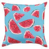 Coussin extérieur Style Selections, 16 po x 16 po, melon d'eau