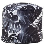 Allen + Roth Palm Pouf - 18-in x 14-in - Polyester - Print