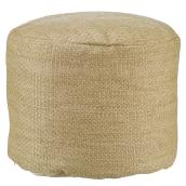 Allen + Roth Pouf - 18-in x 14-in - Polyester - Faux Burlap