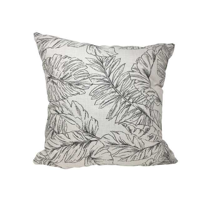 Coussin d'extérieur Style Selections avec motif de palmiers, tissu Sunbrella, 20 po x 20 po