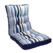 Coussin Style Selections pour chaise de patio à dossier haut, 46 po, rayures, bleu