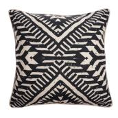 Allen + Roth Decorative Cushion - Geometric Pattern - 18-in x 18-in - Black and White