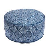 Pouf gonflable allen + roth extérieur à motif géométrique, 20 po x 10 po, polyester, multicolore