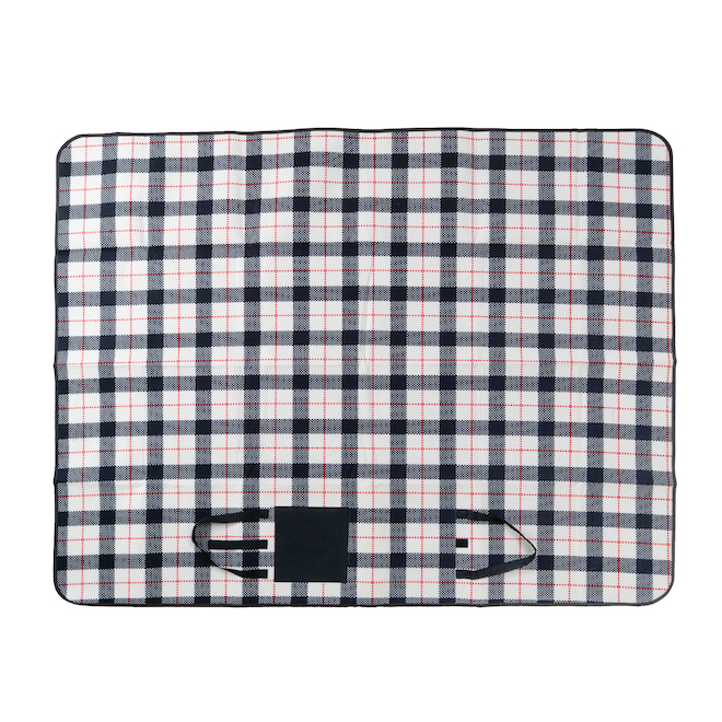 Polyester Checked Picnic Blanket 50-in x 60-in