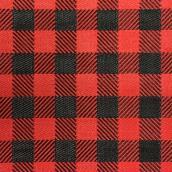 Tapis à carreaux Buffalo rouge et noir intérieur extérieur en plastique, 3 pi x 5 pi