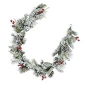 Dansons Snowy Pine Garland - 72-in