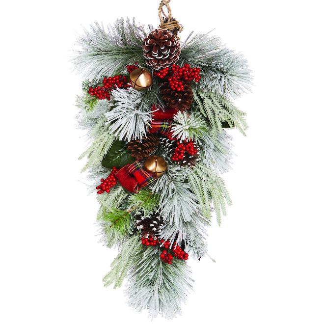 Dansons Decorated Teardrop Wreath - 30-in - 73 Branch Tips