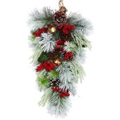 Dansons Decorated Teardrop Wreath - 30-in - 73 Branch Tips