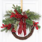 Dansons Pine and Twig Wreath - 20-in - 32 Branch Tips