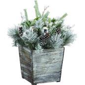 Arrangement floral décoré en pot décoratif, intérieur et extérieur, 35,82 po
