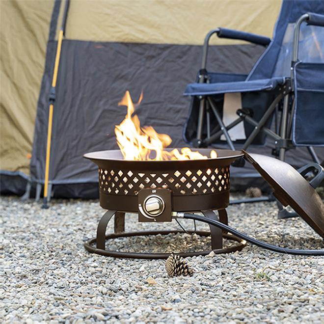 Bond Outdoor Portable Fireplace - 18 1/2-in x 14.65-in - 54,000 BTU - Steel - Bronze