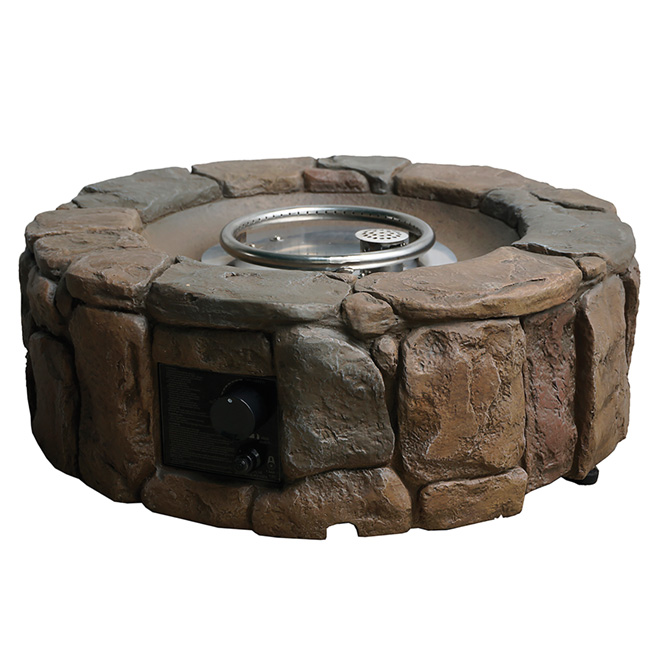 Propane Outdoor Fire Pit - Stone - 28""