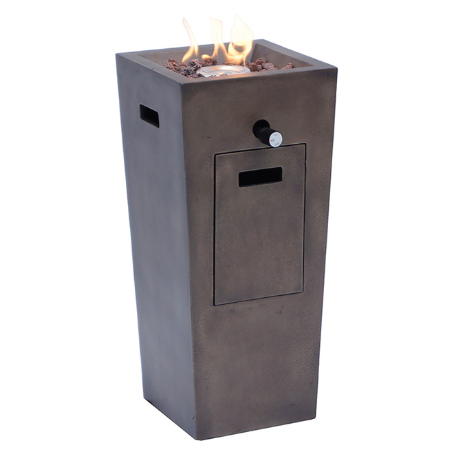 "Propane Outdoor Fireplace - Beverly Hills - Metal -22"""
