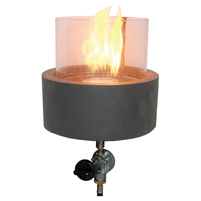 Propane Outdoor Fire Table - Manhattan - Concrete - 9""
