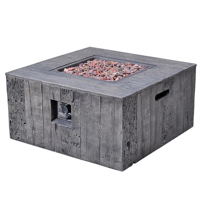 "Propane Outdoor Fire Table - 50 000 BTU - 34 5/8"" - Grey"