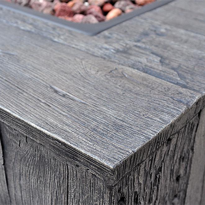 Propane Outdoor Fire Table - 50 000 BTU - 34 5/8-in - Grey