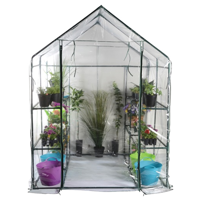 Walk-In Portable Greenhouse with Shelves