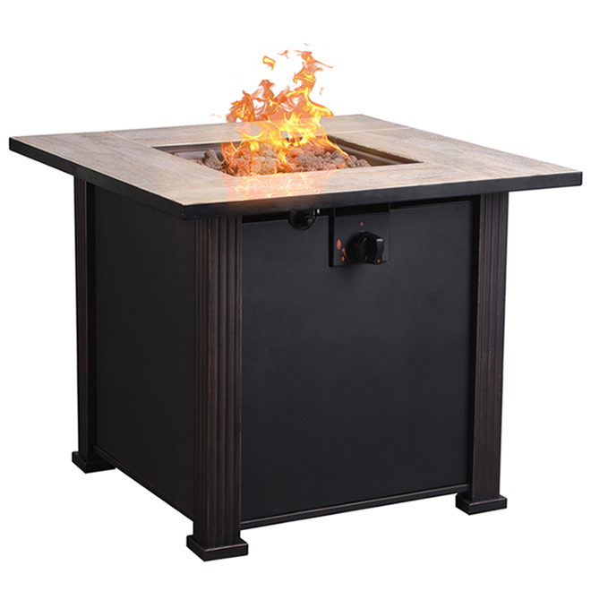 Bond Propane Outdoor Fireplace - 50,000 BTU - 30-in x 30-in - Brown