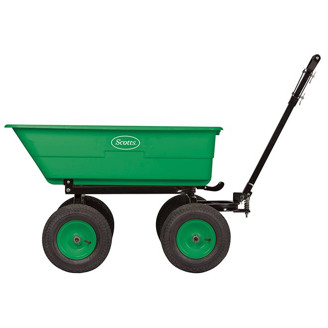 Scotts(R) Dump Cart - Poly - 1500 Lbs - Black/Green
