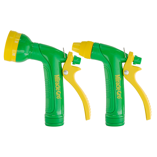 Set of 2 Spray Nozzles - ABS - Green/Yellow
