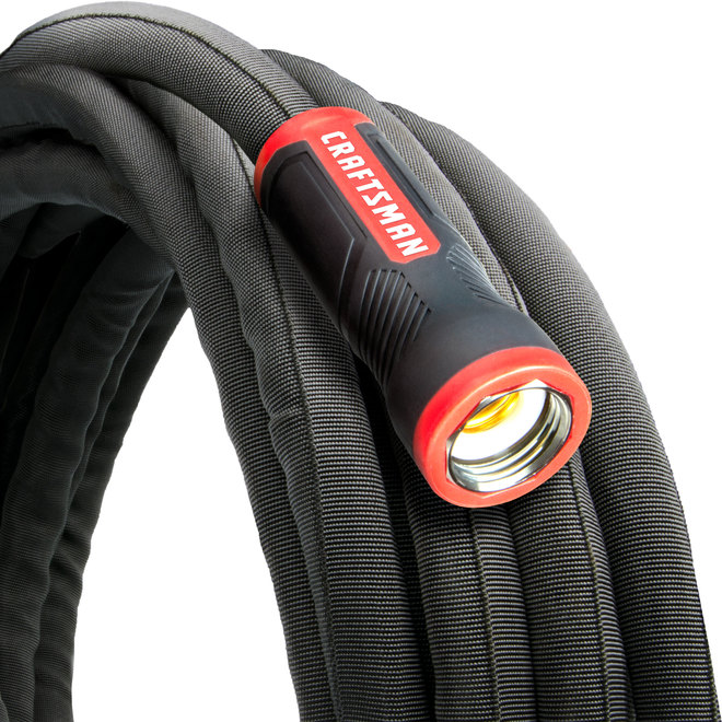 Craftsman(R) Garden Hose - 50' - PVC/Fabric - Black/Red