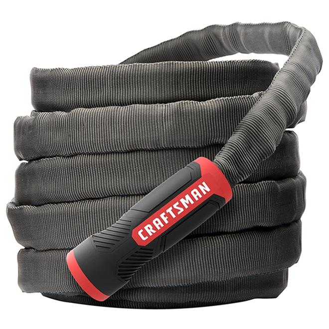 Craftsman(R) Garden Hose - 100' - PVC/Fabric - Black/Red