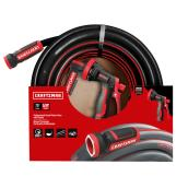 "Garden Hose with Nozzle - 75' x 5/8"" - PVC/Resin - Black/Red"
