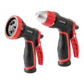 Set of 2 Watering Guns - Zinc/ABS - Red/Black