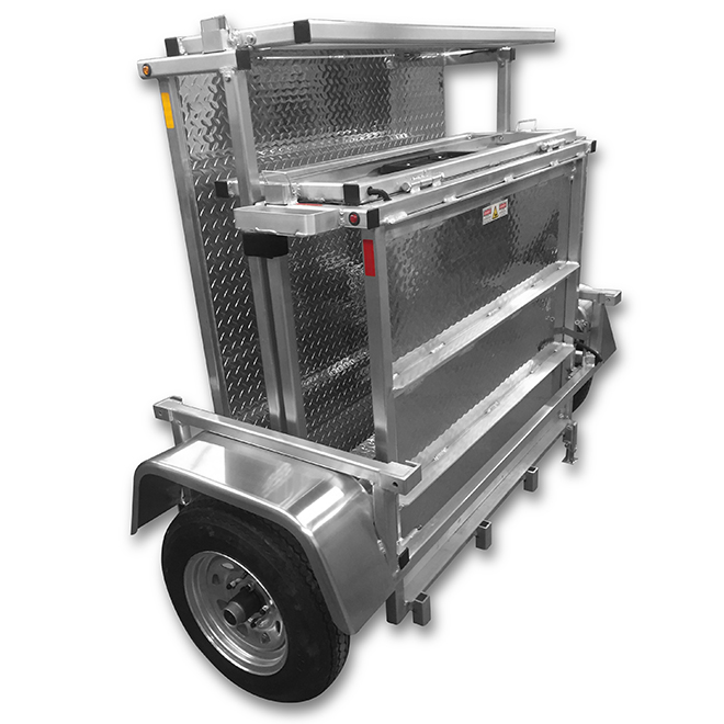 Folding Trailer - 4' x 8' - Aluminum