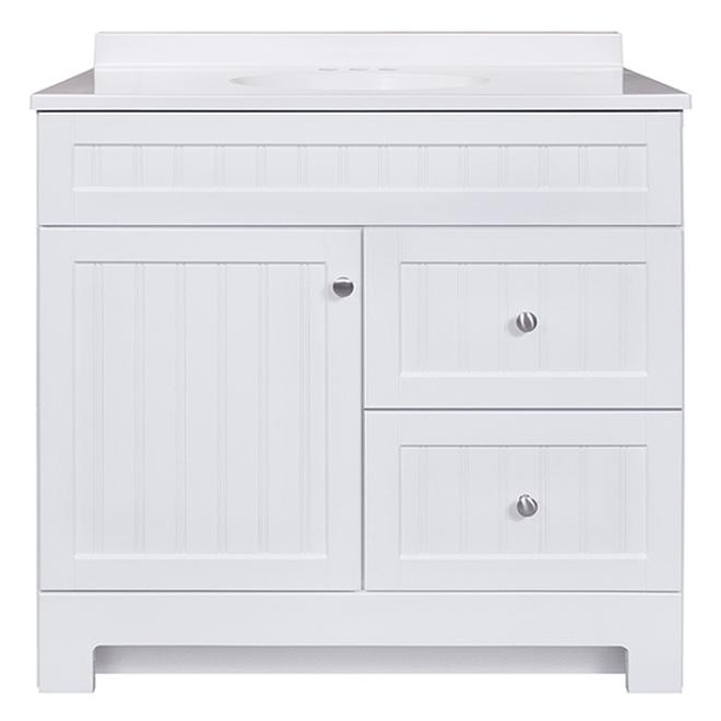 RSI Ellenbee 36-in White Bathroom Vanity