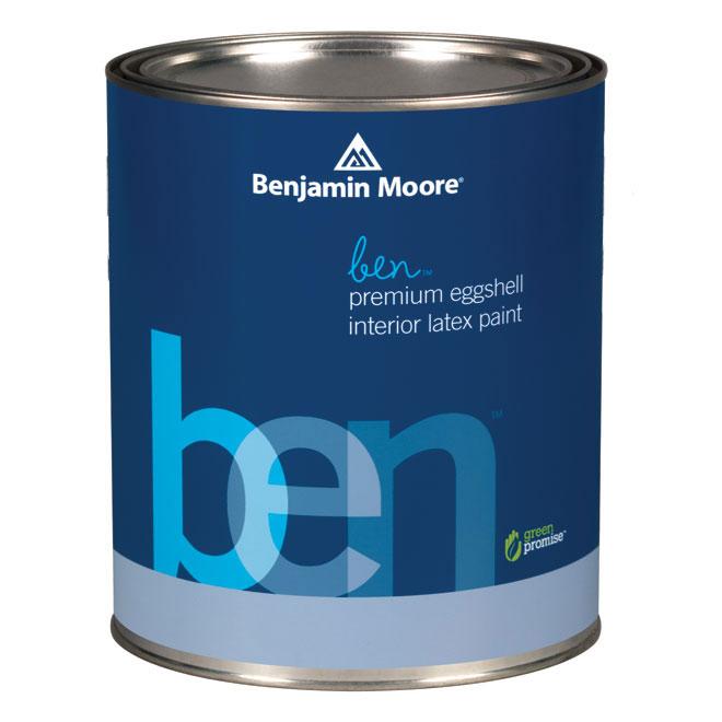 BENJAMIN MOORE Interior Paint - Latex - Base 4 - Eggshell ...