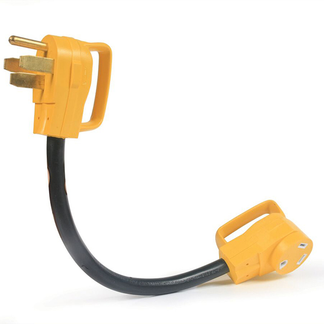 "Camco Electrical Adapter for RV - 18"" - 50/30 A - Yellow/Black"