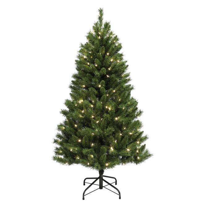 Arbre illuminé Woodbury Holiday Living, 200 lumières DEL, 5 pi, 458 pointes