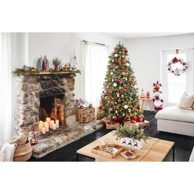 Holiday Living 7-ft Pre-lit Tree - 450 LED Warm White Lights - 1472 Tips