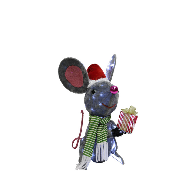 Holiday Living Lighted Mouse - LED - 22-in - 105 Lights - Multicolour