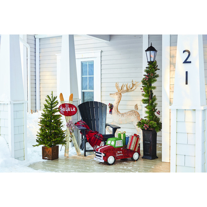 Holiday Living Lighted Truck with 70 LED Lights - 33-in - Multicolour