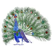 Holiday Living 1-Pack 24-in Freestanding Peacock Decoration with Multicolour LED Lights