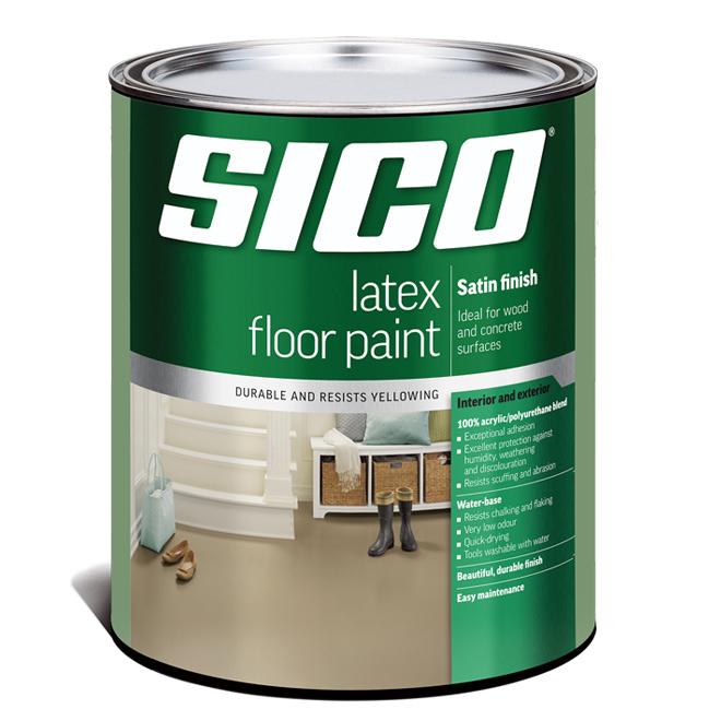 Sico - Latex Floor Paint - Interior/Exterior - 899 ml - Satin Finish - Medium Grey