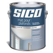 Peinture mat pour plafond, Sico, alkyde, 3,78 l, super blanc
