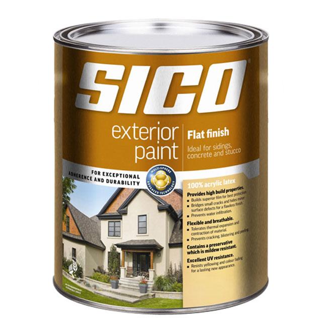 Peinture d'extérieur au latex « fini mat »