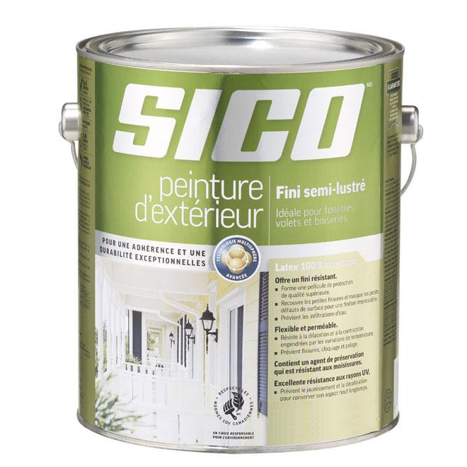 Peinture et apprêt d'extérieur Sico, semi-lustré, base neutre, opaque, 3,5 L