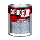 Peinture antirouille, Sico, Corrostop, 900 ml, fini lustré, super blanc