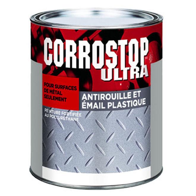 Peinture antirouille, Sico, Corrostop , 946 ml, fini lustré, noir