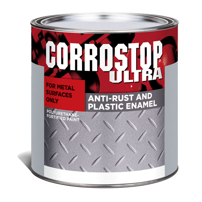 Sico - Anti-Rust Paint - Alkyde - 236 mL - Gloss Finish - Grey