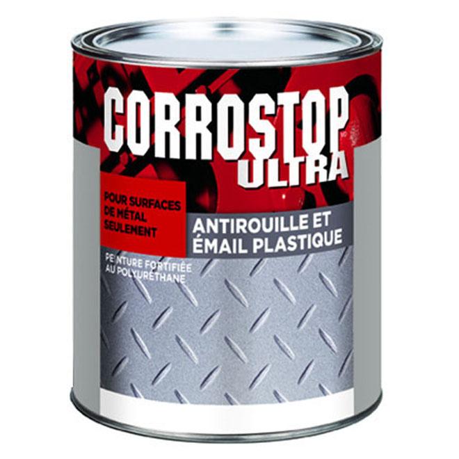Peinture antirouille, Sico, alkyde, 946 ml, fini brillant, gris